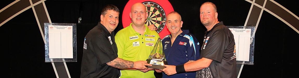 Barney gewinnt die Premier League Darts 2014