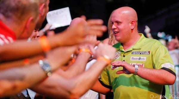 Van Gerwen gewinnt Singapur Darts Masters